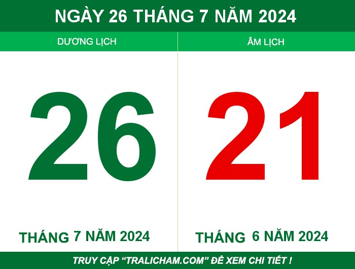 Ngày 26 tháng 7 năm 2024